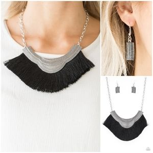 Paparazzi My Pharaoh Lady Black Necklace Set